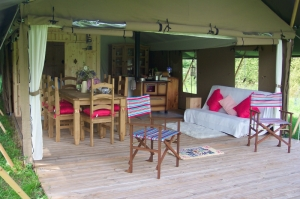 Luxury child-friendly tent for glamping under the stars!