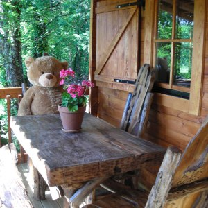 Children will love the The Three Bears themed holiday lodge