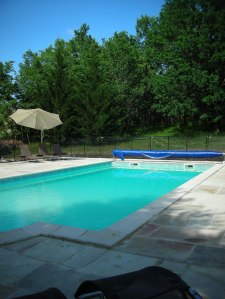 Swimming pool shared by two cottages