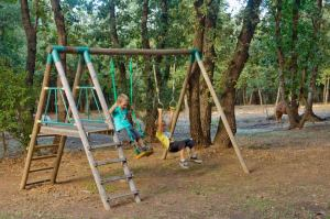 The woodland play area