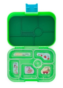 Pomme Green Yumbox Open with Tray