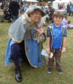 Freddie with cast member of Horrible Histories - For you Alex, Ruby and James!