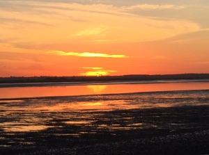 Sunset on Osea