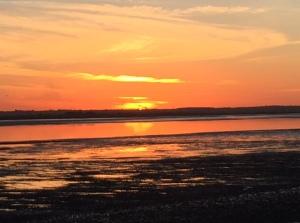 Sunset on Osea