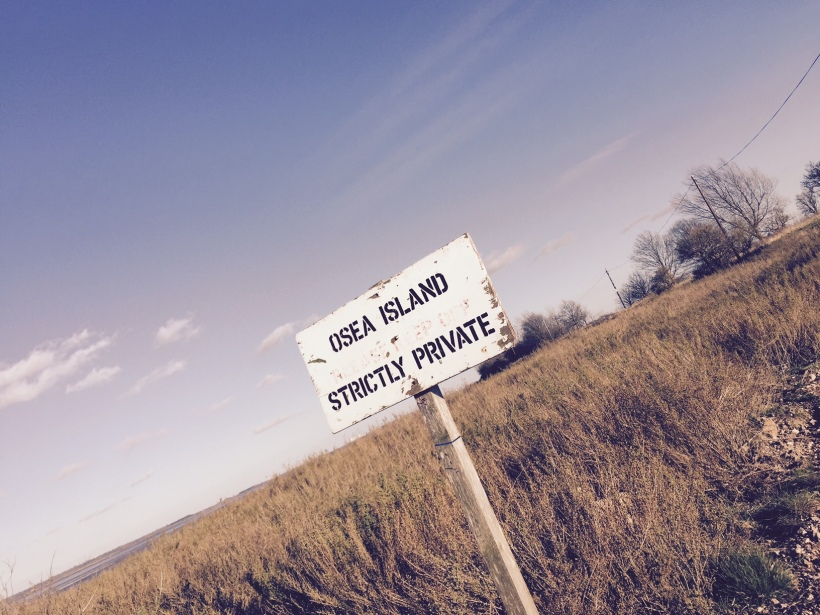 Osea Island sign