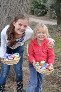 Easter egg hunt at the Chateau