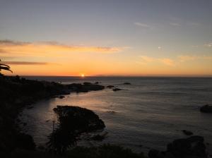 sun set Camps Bay South Africa