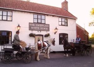 swffling pub-front-horses-traps